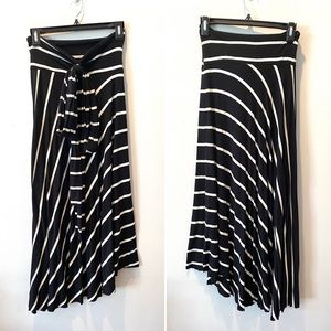 LANI California Asymmetrical Maxi Skirt